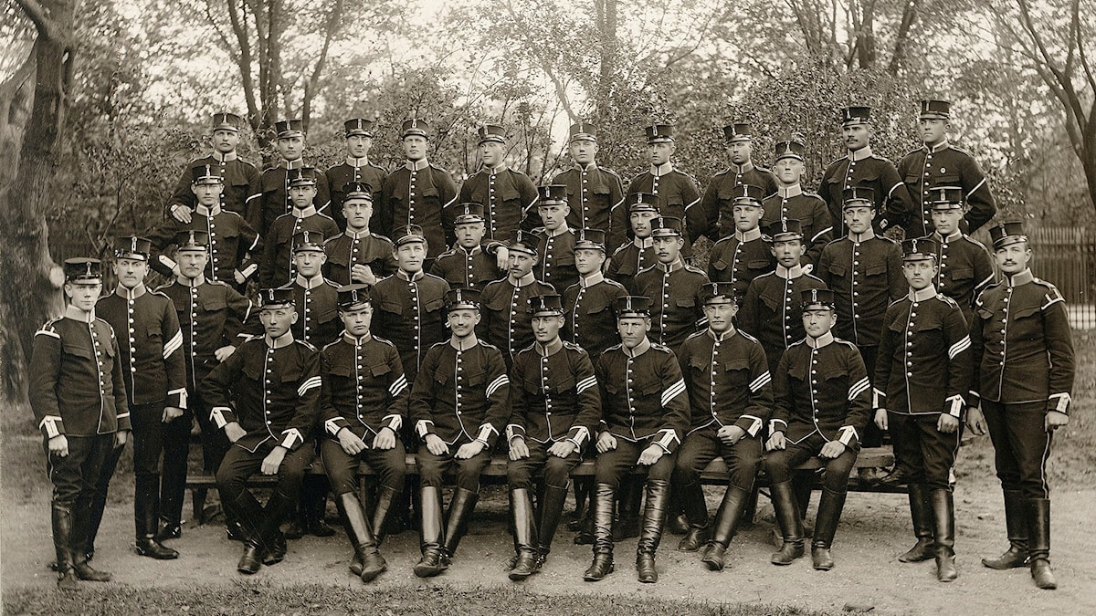 Svenska soldater i slutet av 1800-talet