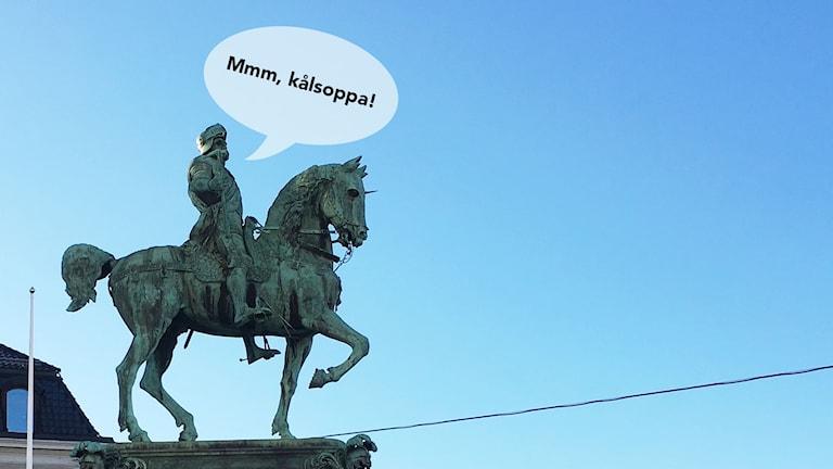 Statyn Kopparmärra i Göteborg föreställandes Karl IX