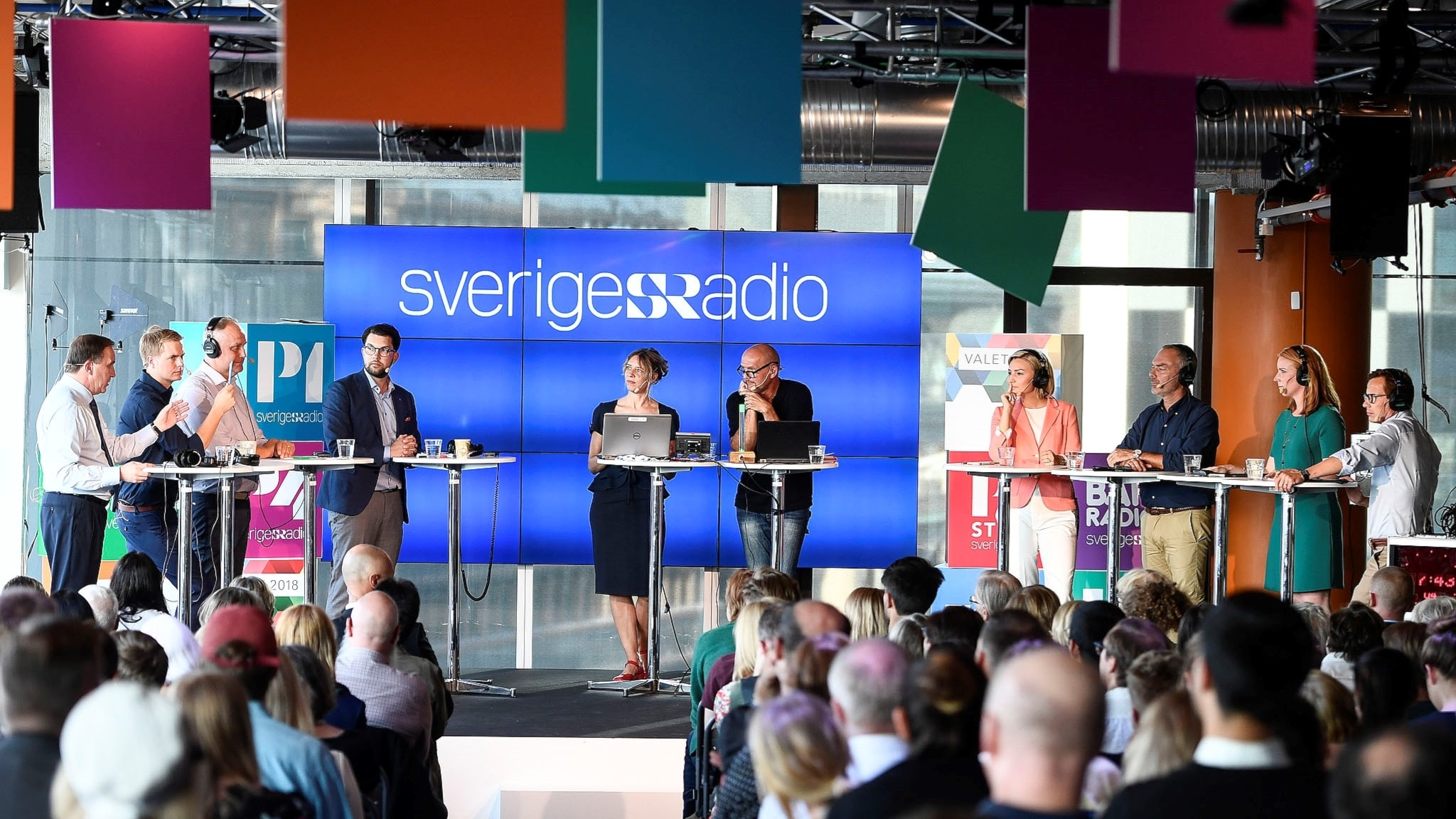 Partiledardebatt från Sveriges Radio