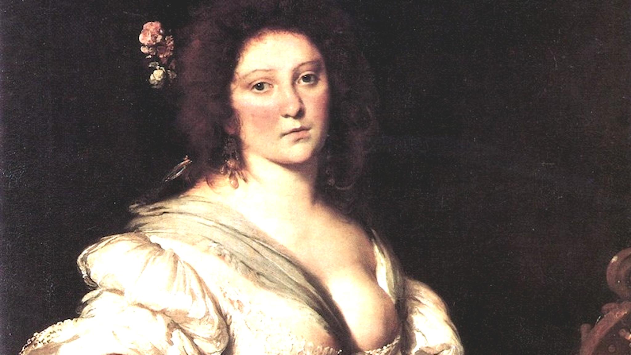 Barbara Strozzi porträtterad av den samtida konstnären Bernardo Strozzi. Foto: Wikimedia commons.