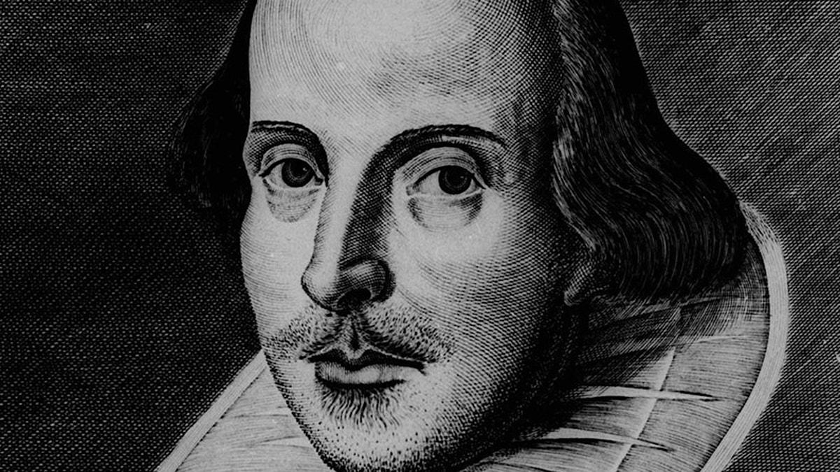 Den engelska guldålderns största namn? William Shakespeare i ett odaterat porträtt.