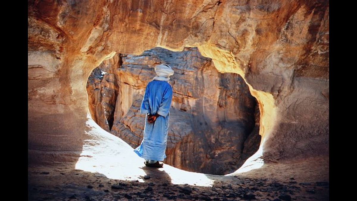Rasri, tuaregisk vägvisare i Ahaggar-bergen - Foto Tjia Torpe