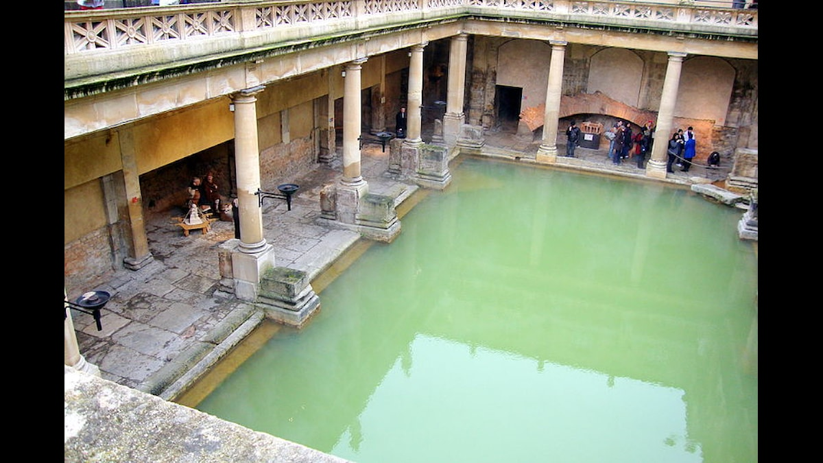 The Great Bath, romerska baden i Bath - Foto Ludi Ling, Wikimedia CC