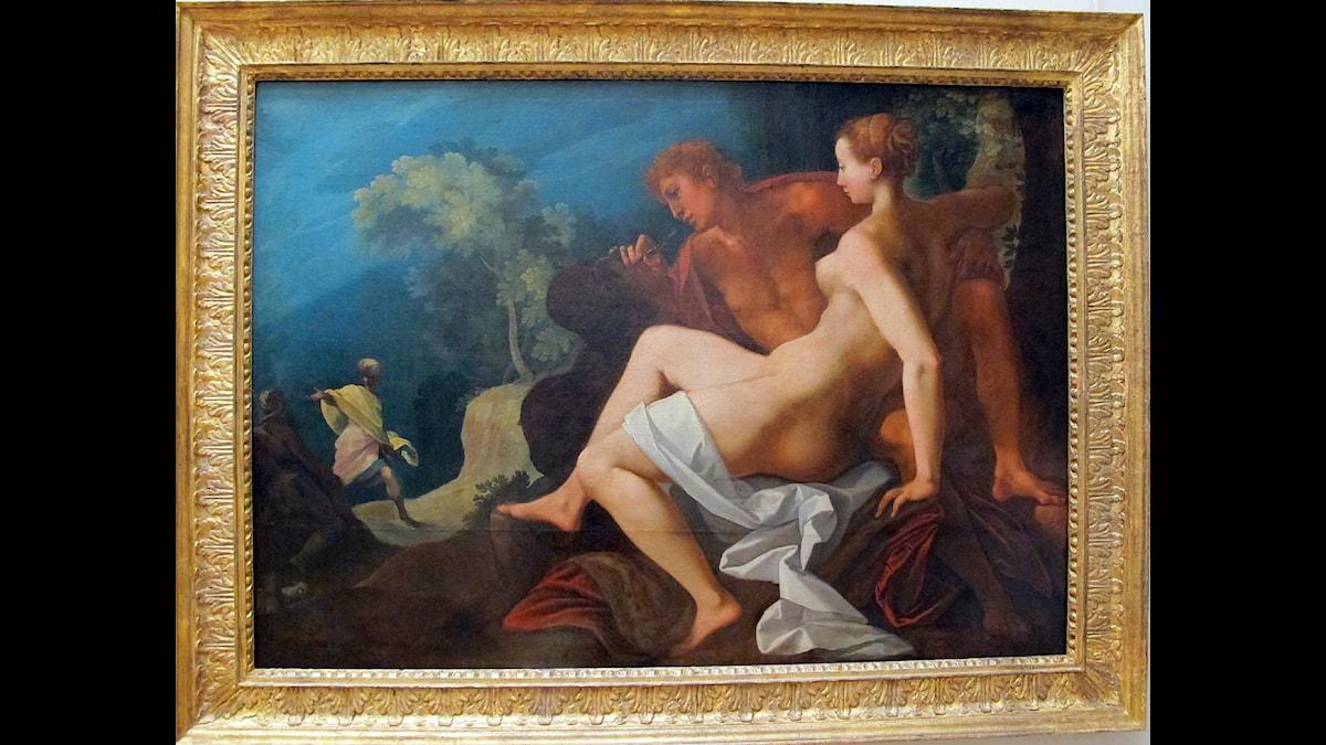 Angelica och Medoro - Konstnär Toussaint Dubreuil, 1590-1600 ca, Wikimedia CC