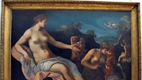 Toussaint_Dubreuil e bottega, leda e le sue ninfe (1595-1600 ca), Wikimedia CC