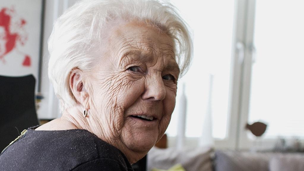 Birgit Lindberg. Foto: Markus Åkebo/Sveriges Radio.