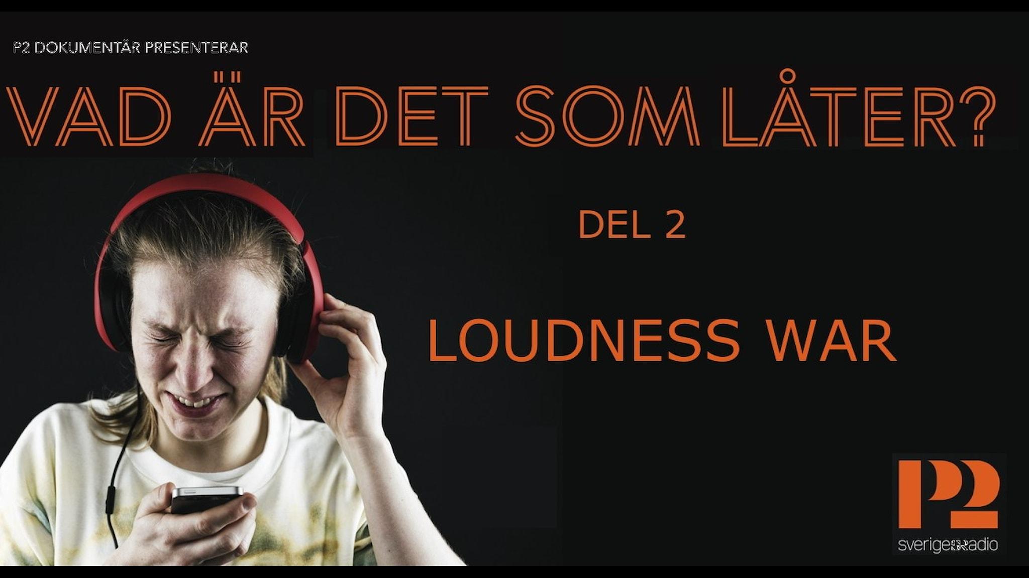 Loudness war, del 2 av P2 Dokumentärserien Vad är det som låter. Modell Lina Lundgren. Foto Mattias Ahlm, SR