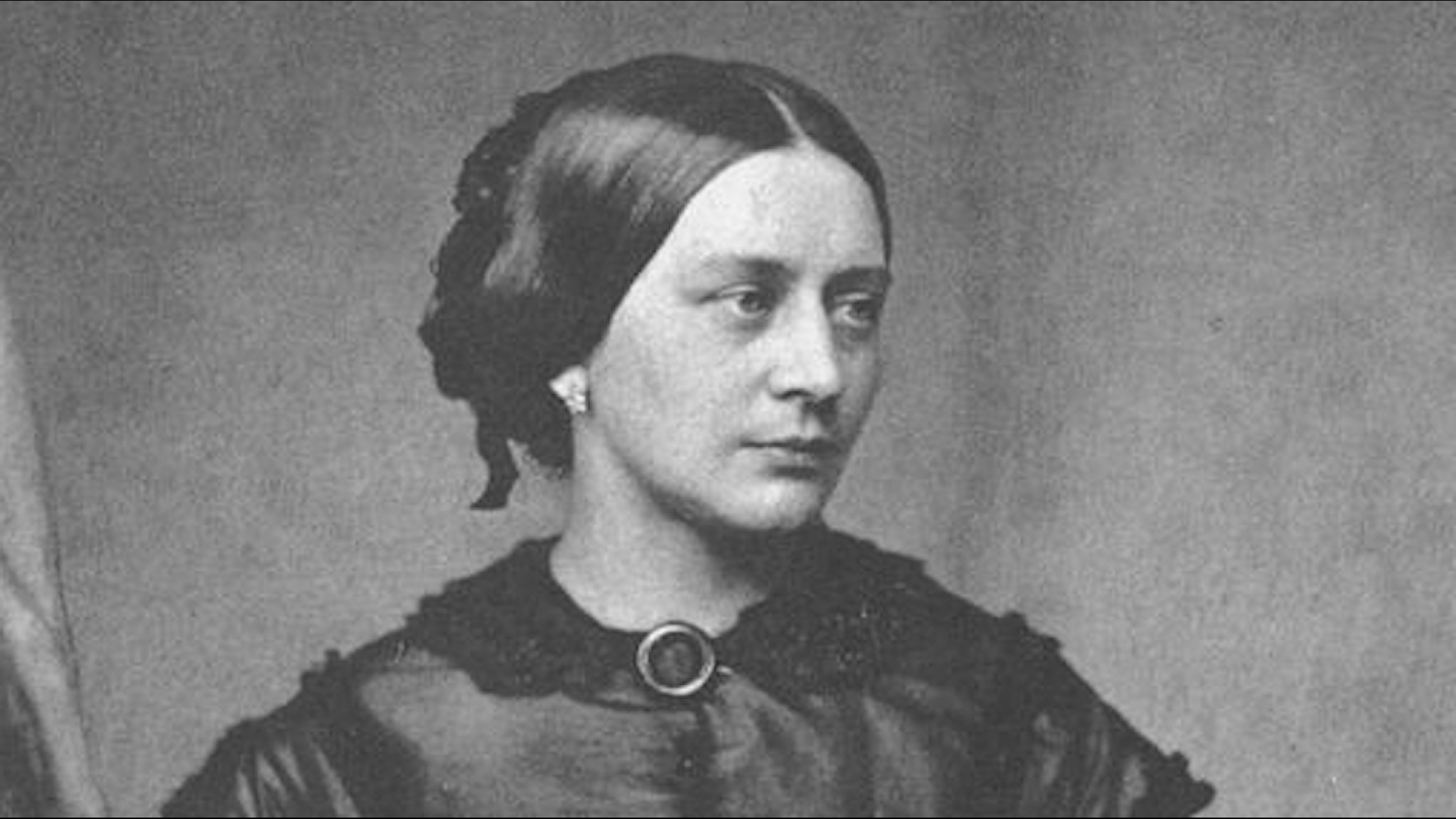 Clara Schumann cirka 1850. Foto: Franz Hanfstaengl/Wikimedia commons.