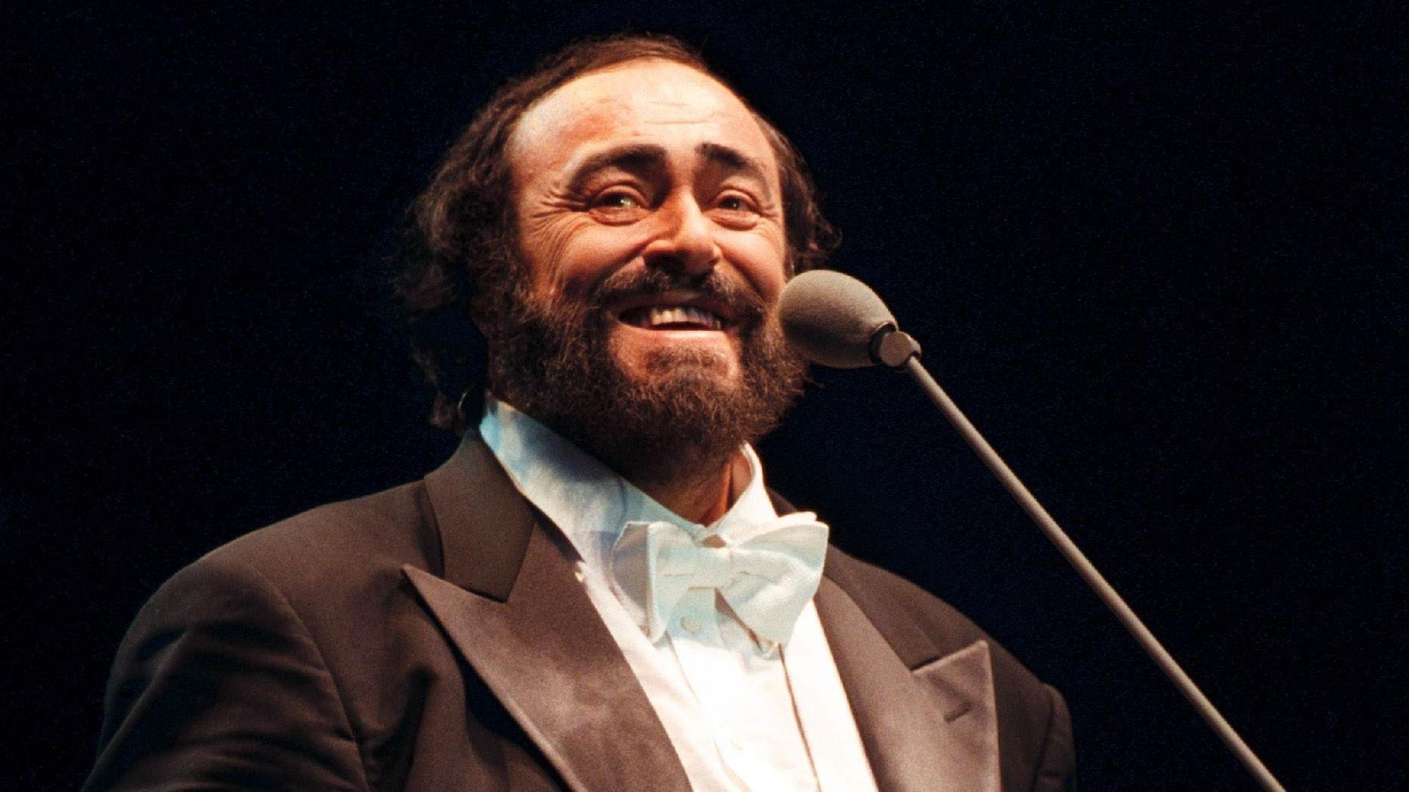 Bild: Luciano Pavarotti, tenor.