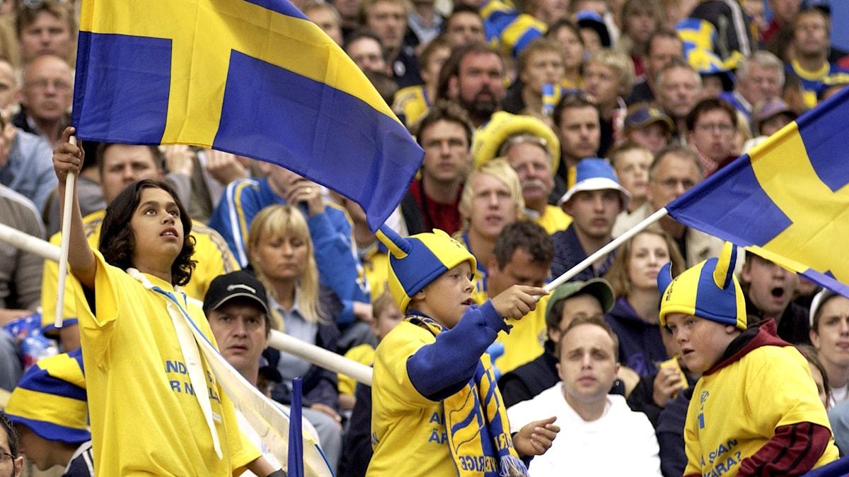 Publik under fotbollsmatch