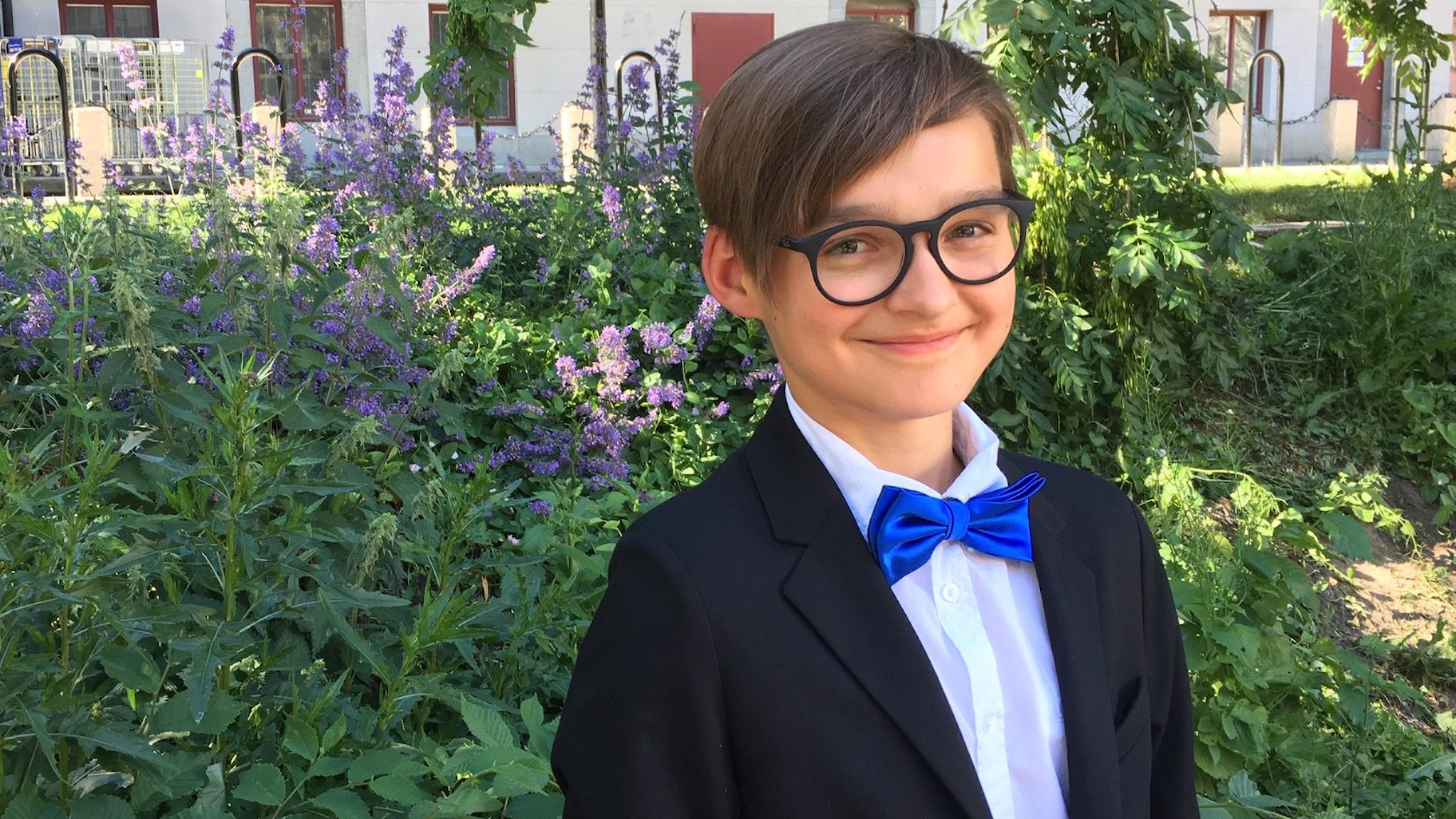 13-årige Axel Gryspeert som i denna P2 Dokumentär berättar om livet på Adolf Fredrik. Foto: Joanna Górecka.
