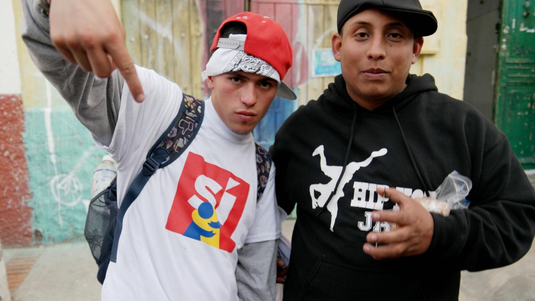 Rappare i Belen Bogota. Foto: Lars Lovén.