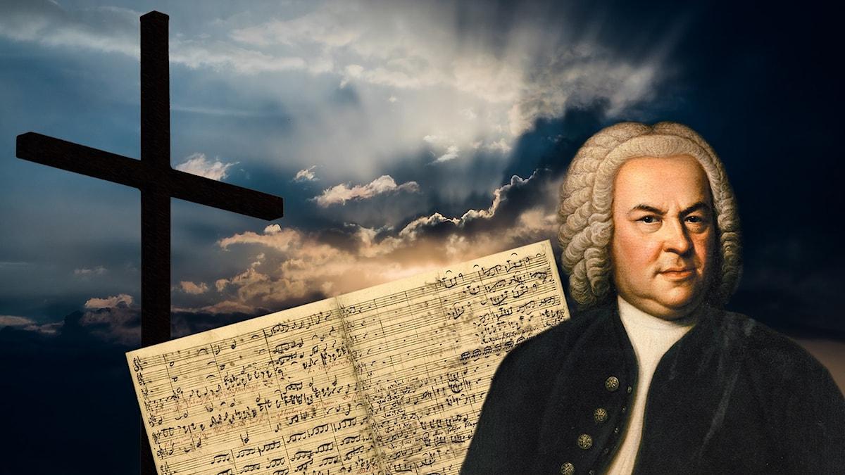 Johann Sebastian Bach. Foto: Montage av Ellen Nordin.