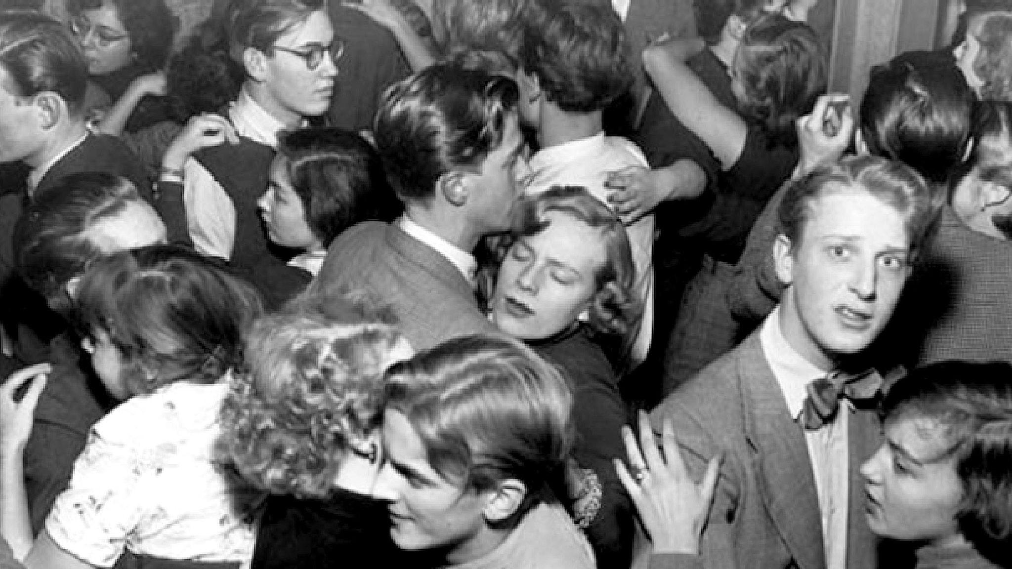 Svettig stämning på Gazell Klubb i Stockholm 1951.
