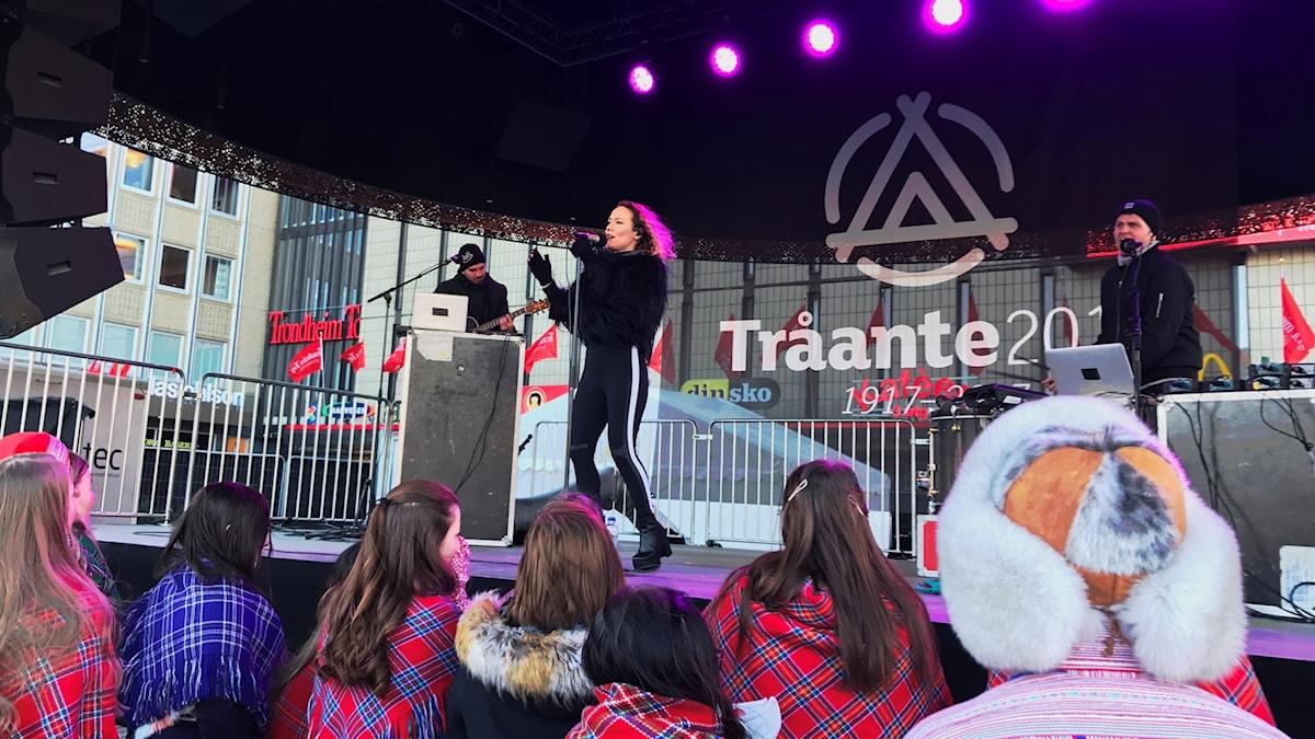 Elle Marja Eira i Tråante 2017. Foto: Malin Winberg/Massa media