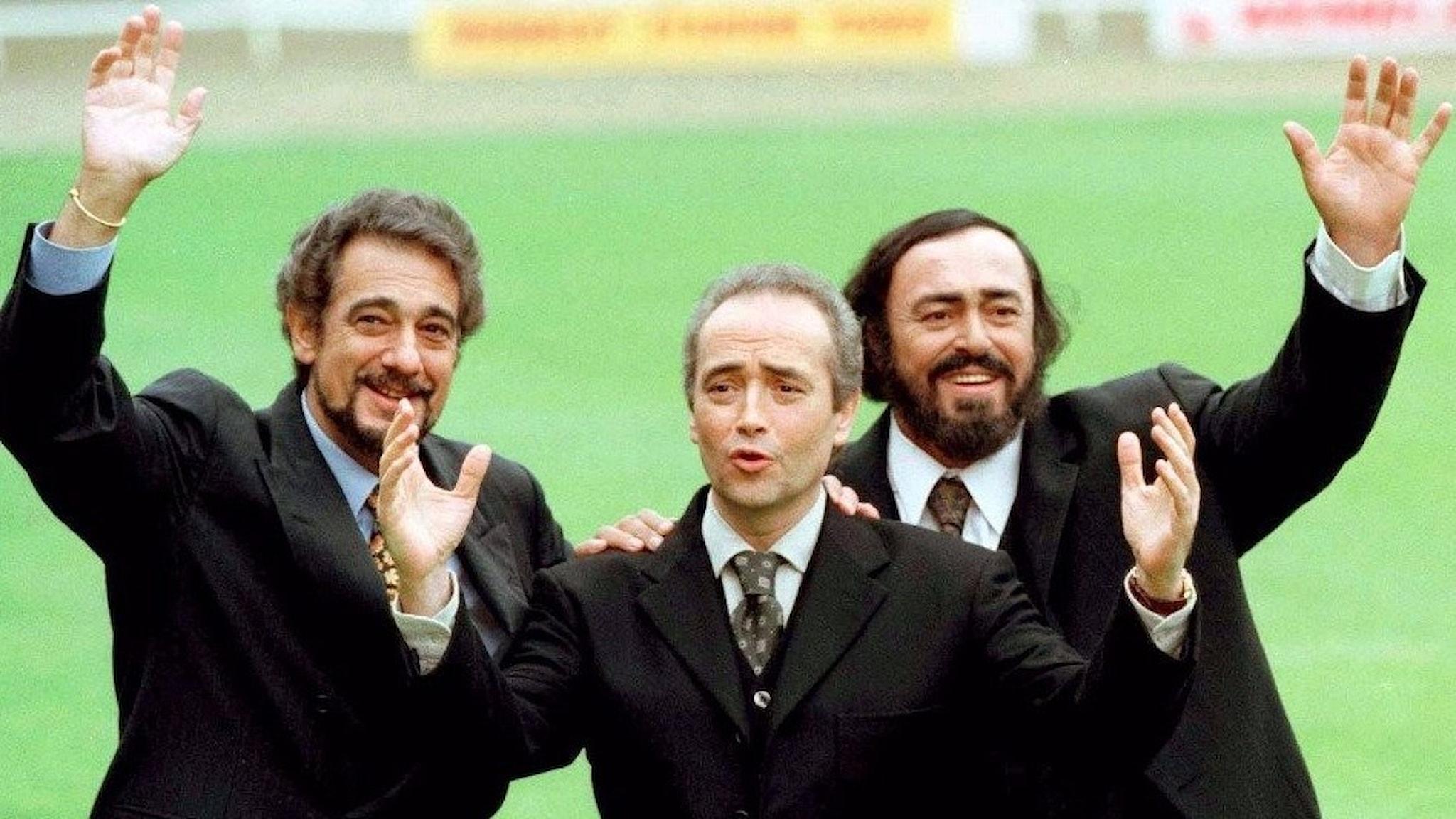 De tre tenorerna Placido Domingo, Jose Carreras och Luciano Pavarotti skapade en sällan upplevd hajp kring opera på 90-talet.