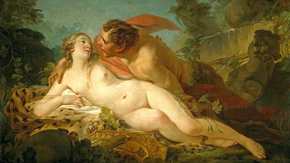 Júpiter och Antíope av Jean-Baptiste Marie Pierre