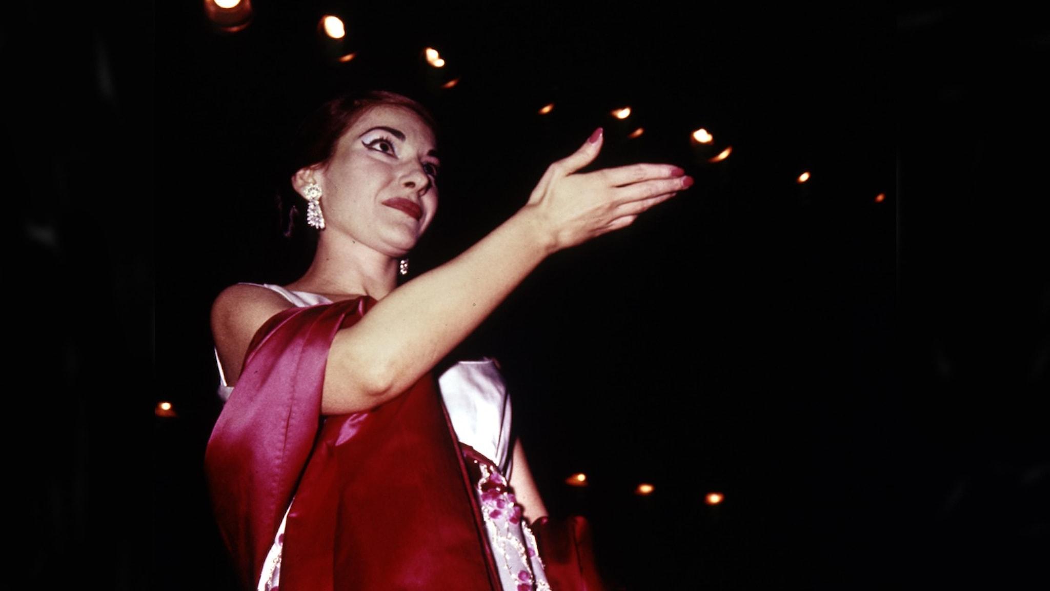 Bild: Operastjärnan Maria Callas.