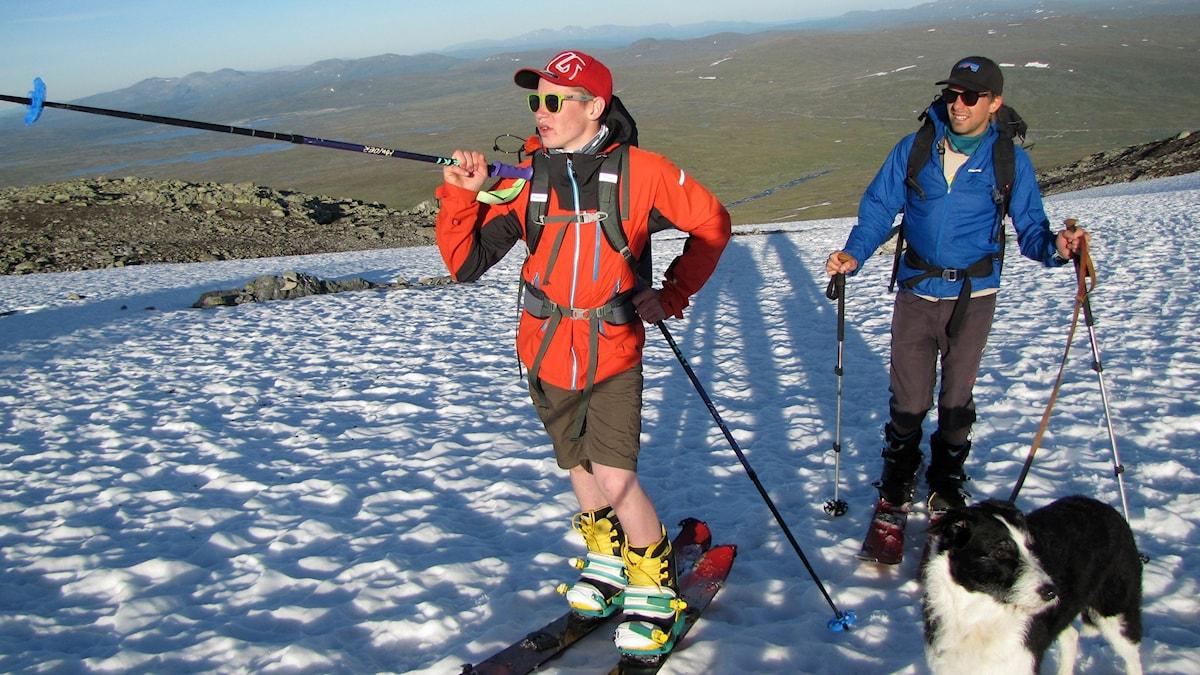 Kraesta Nejne och Nils Åslund siktar mot toppen. Foto: Magdalena Martinsson