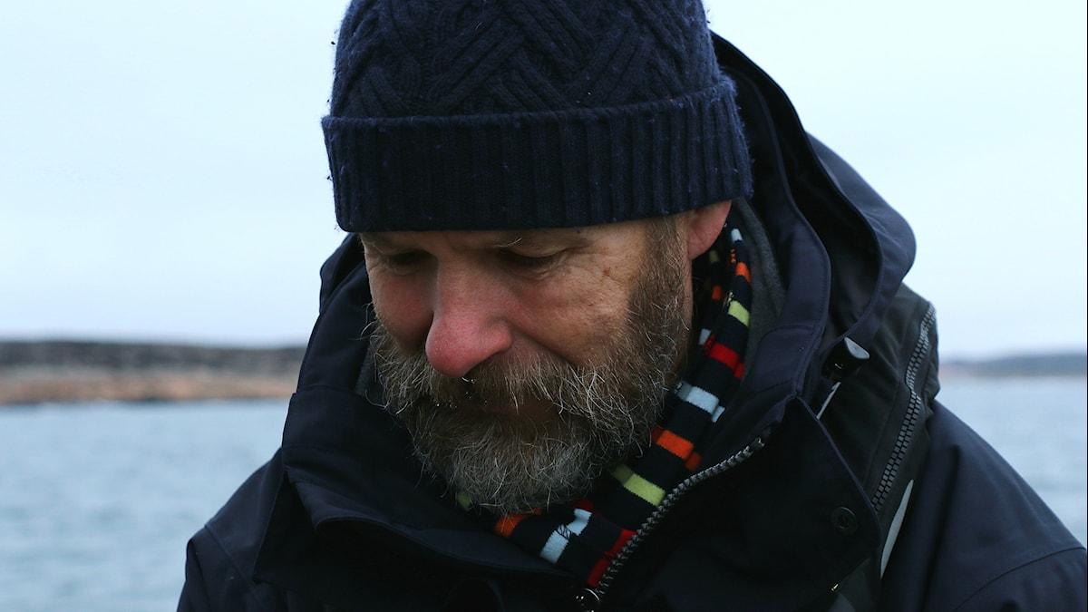 Porträtt Christer Larsson, projektledare på HAV, vid vrakplatsen utanför Smögen.