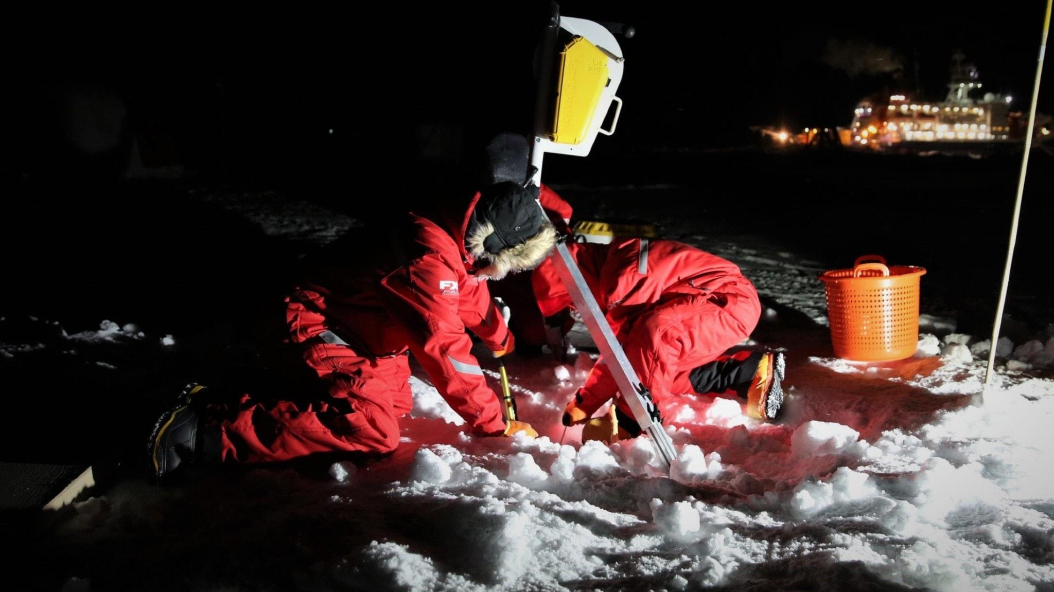Första fångsten vid Nordpolen