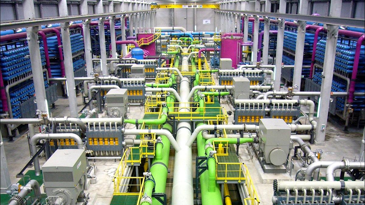 Avsaltningsanläggning med osmosis-teknik