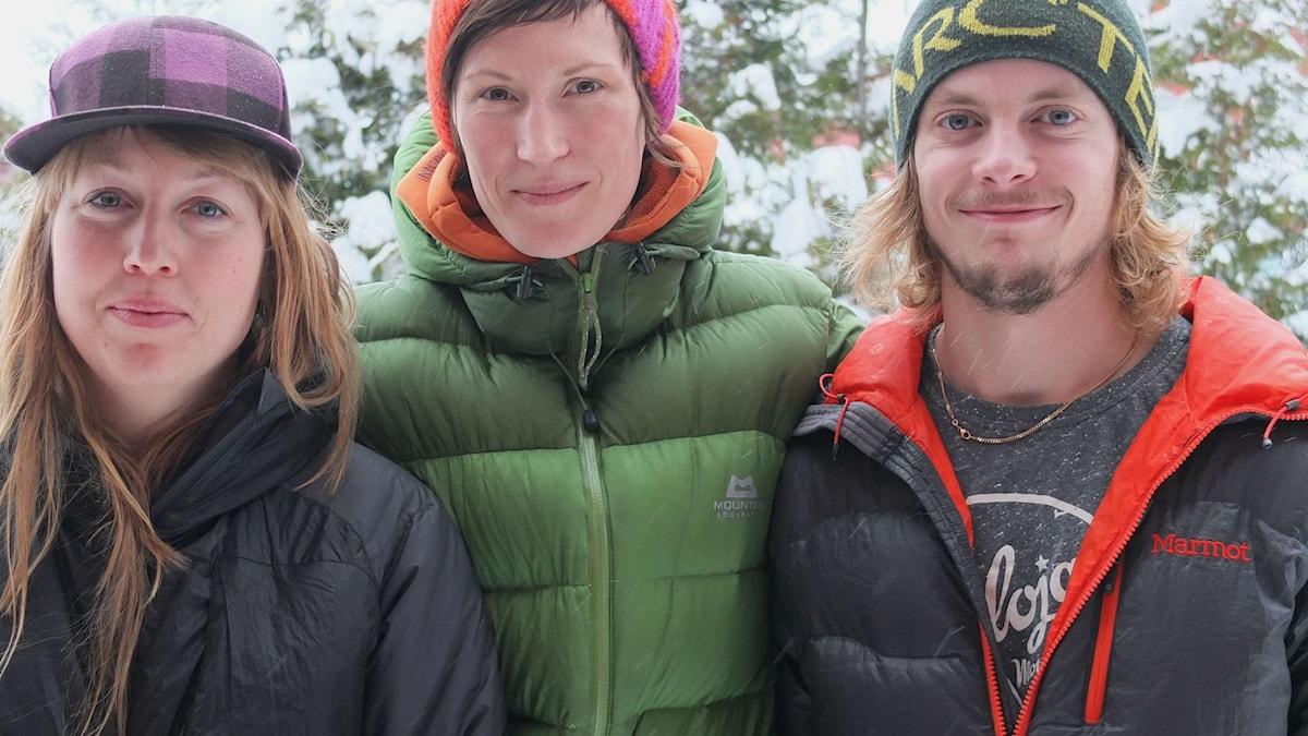 porträtt Maria Hedberg, Andrea Mannberg och Martin Stefan