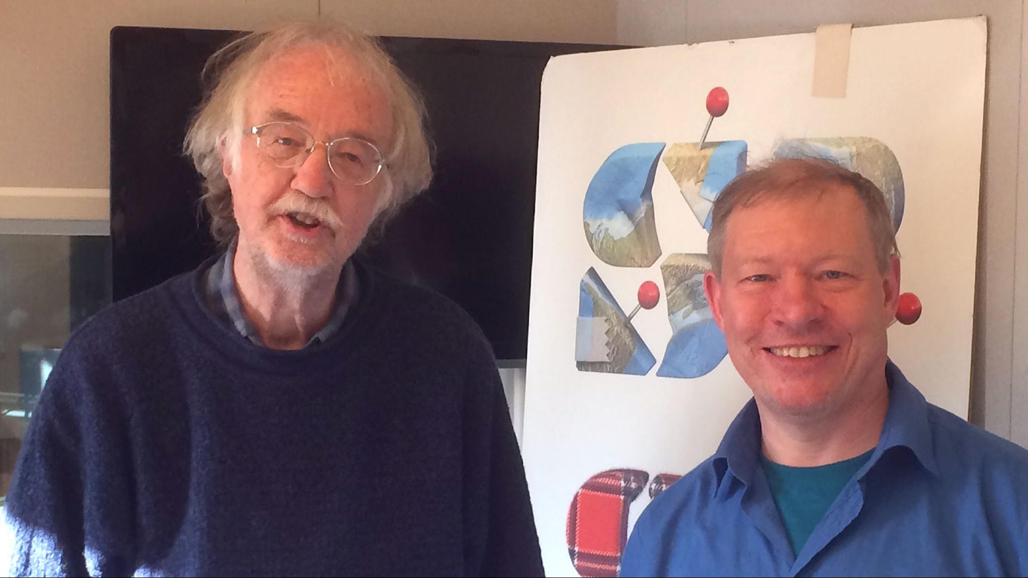 Matematikhistoriker Staffan Rodhe och rymdforskaren Anders Eriksson i studion.