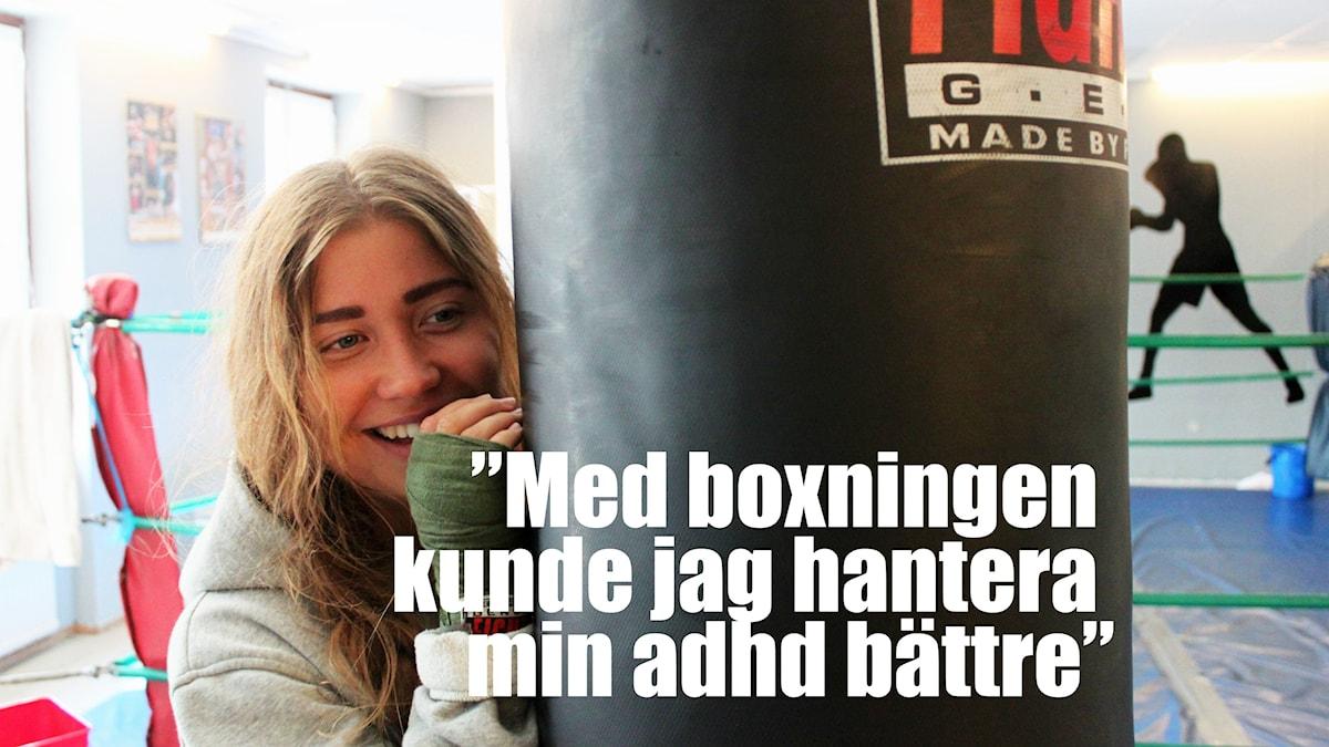 citat infällt i bild: Med boxningen kunde jag hantera min adhd bättre
