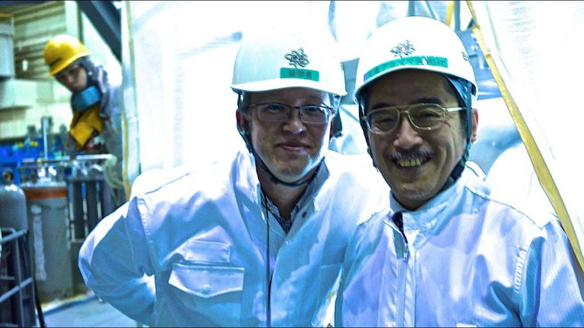 Reporter Jon Thunqvist och chefen för den japanska fusionsexperimentreaktorn dr Yutaka Kamada
