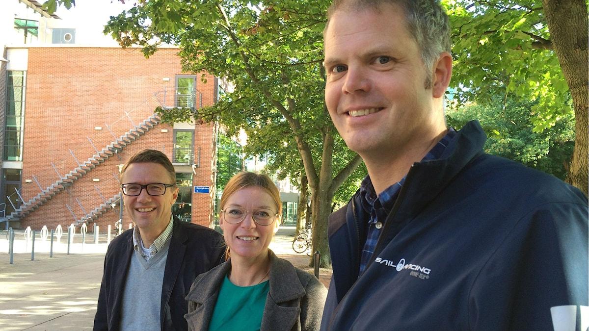Jens Nielsen, Sara Malcus och Fredrik Bäckhed