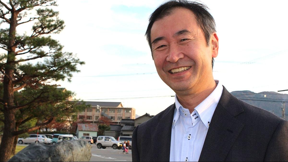 Nobelpristagaren Takaaki Kajita i Osawano en bit söder om staden Toyama.