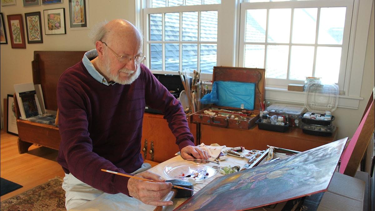 Campbell målar