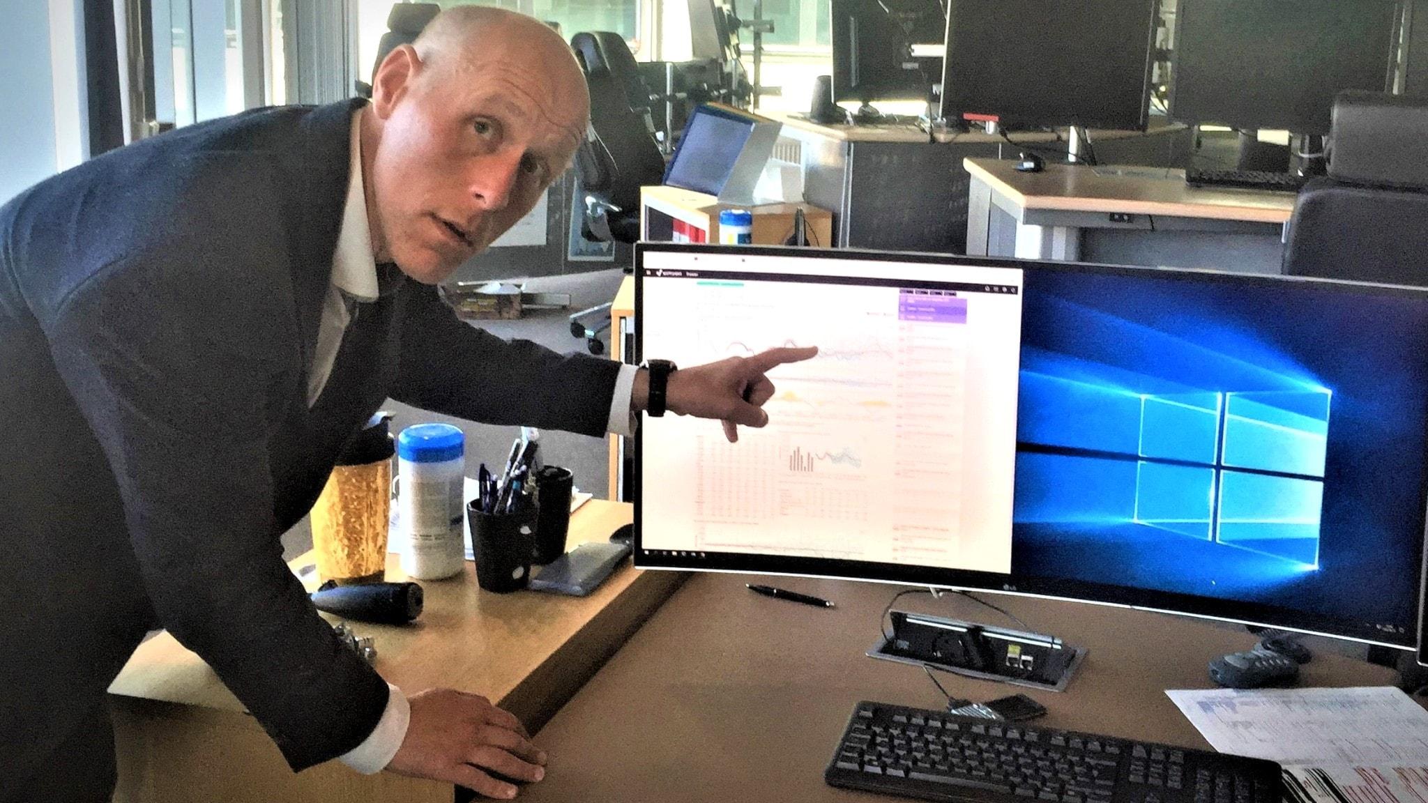 Erik Ek, driftchef på Svenska Kraftnät