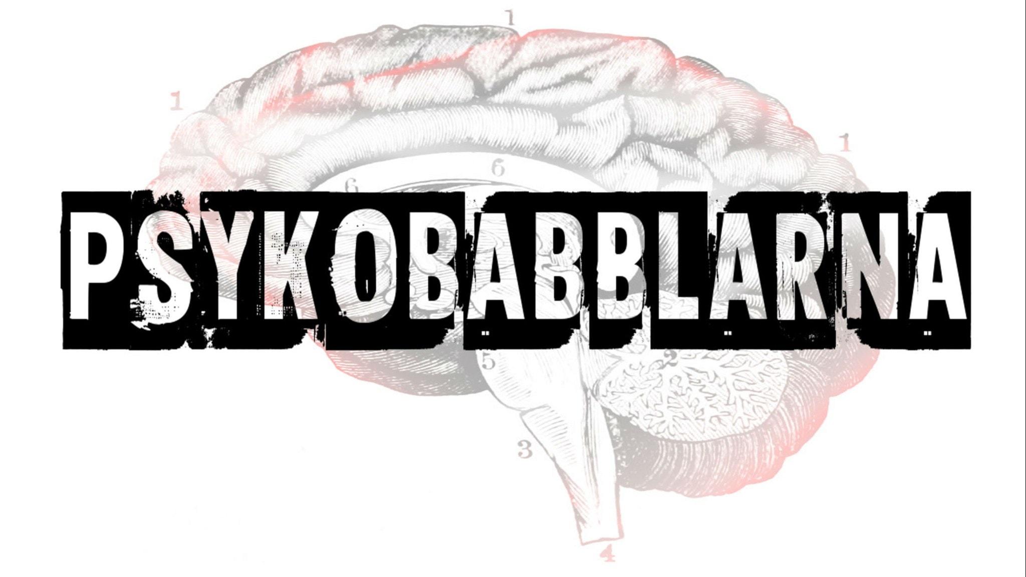 Hjärna med texten psykobabblarna