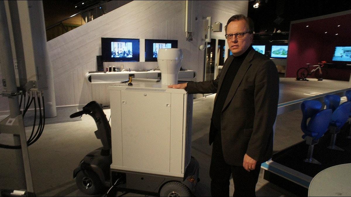 stor plåtlåda med avancerad elektronik. Foto: Per Gustafsson/TT