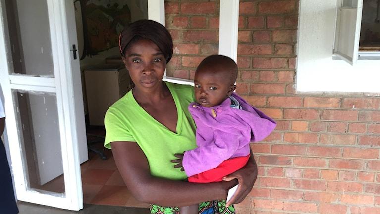 Mamma med barn