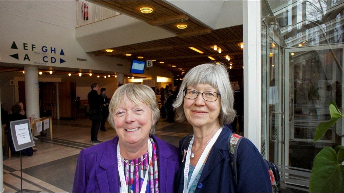 Lena Nylander och Judith Gould