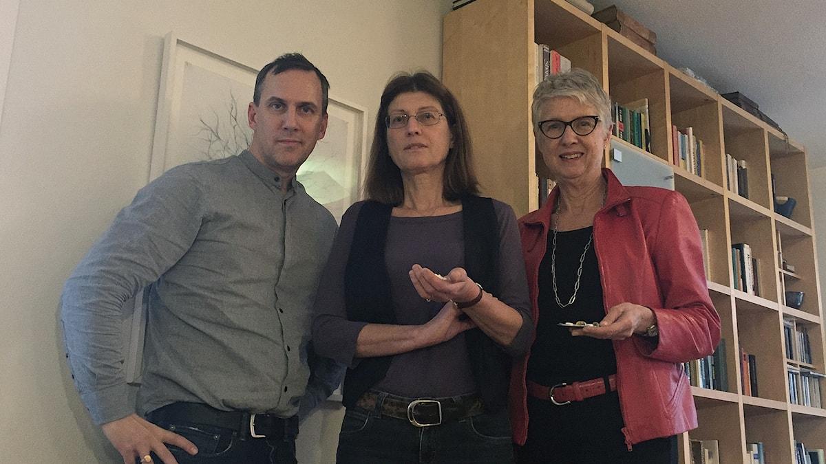 Johan Bergendorff, Susanne Lundin och Margareta Troein