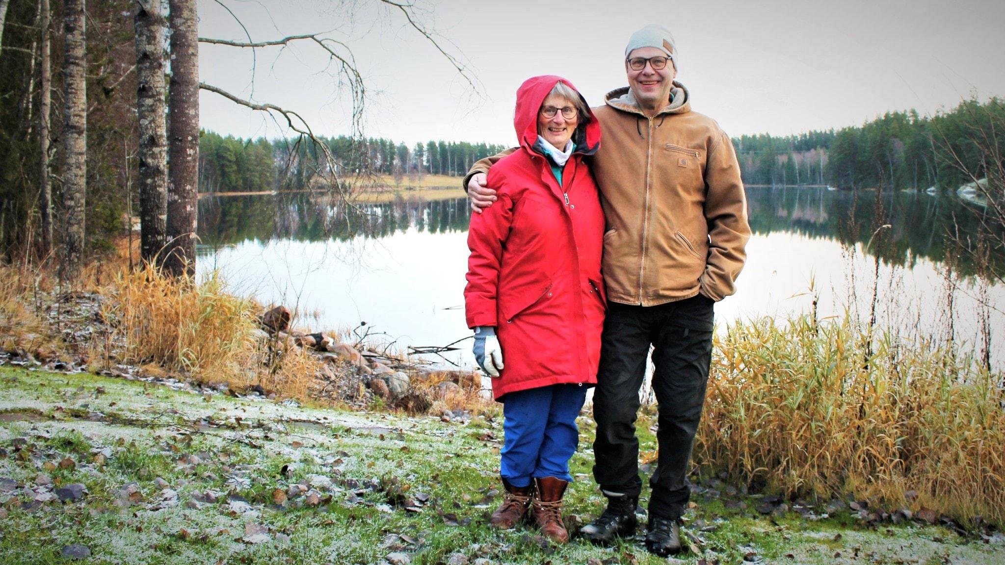Cecila och Leif Öster mitt i biosfärområdet Älvlandskapet Nedre Dalälven