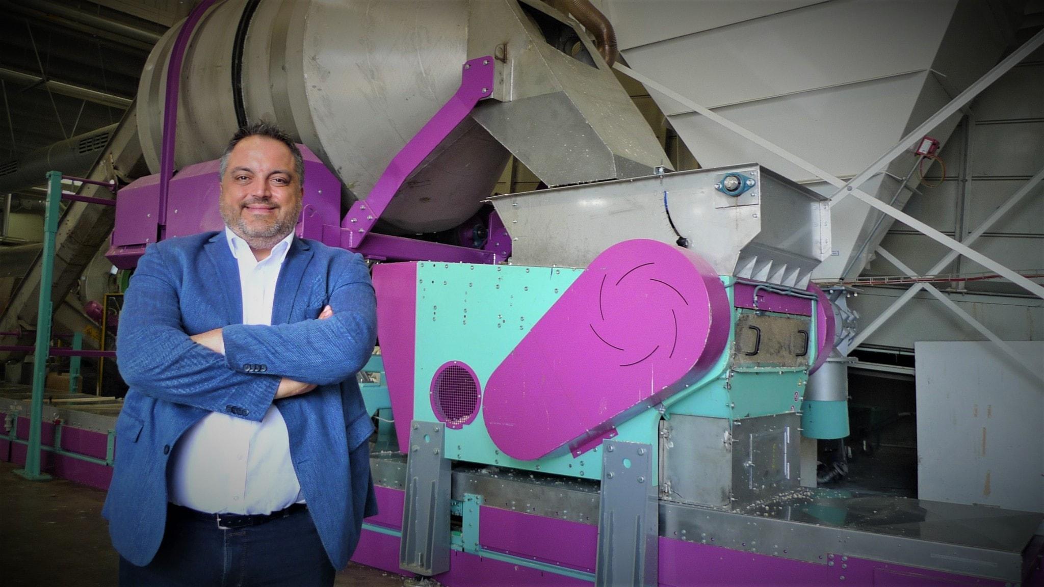 Marcello Somma uppfinnare av maskinen som rengör blöjor.