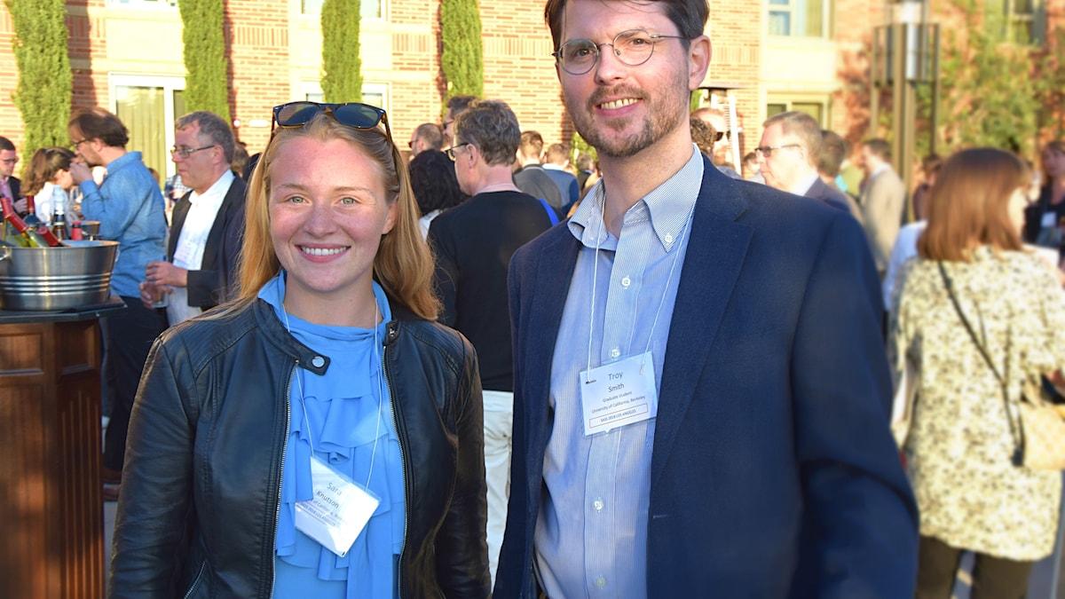 Skandinavisterna Sara Knutson och Troy Smith