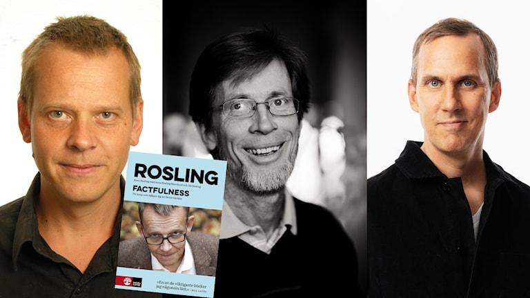 Ola Rosling, medförfattare till boken Factfulness möter professor Christian Berggren i en debatt som leds av Sveriges Radios globala hälsokorrespondent Johan Bergendorff.