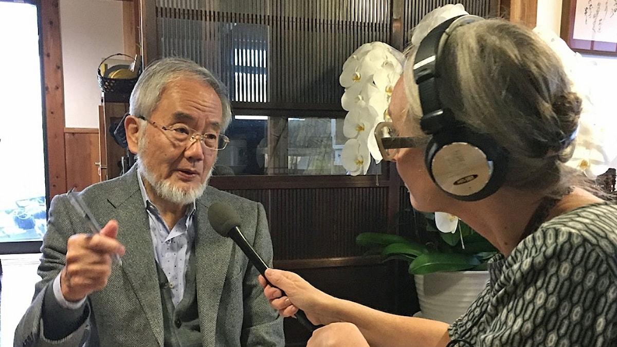 Yoshinori Ohsumi intervjuas