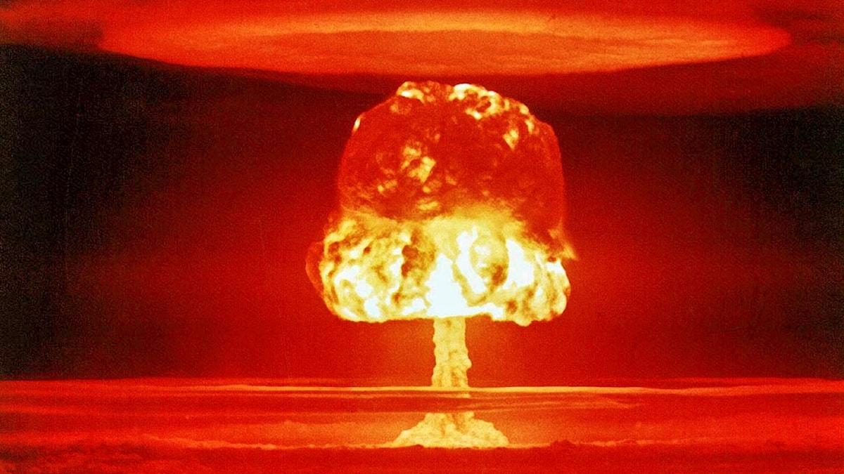 Explosion av atombomb