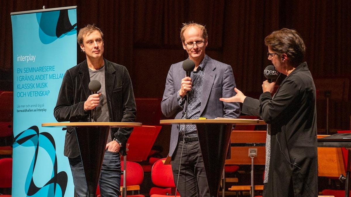 Johan Lind, Mattias Lundberg och Camilla Widebeck