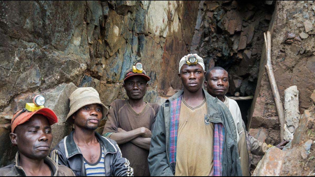 Arbetare utanför gruva