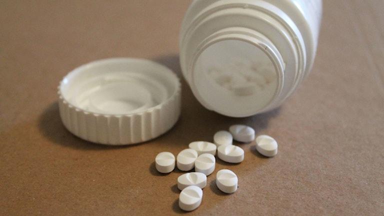 Burk med tabletter