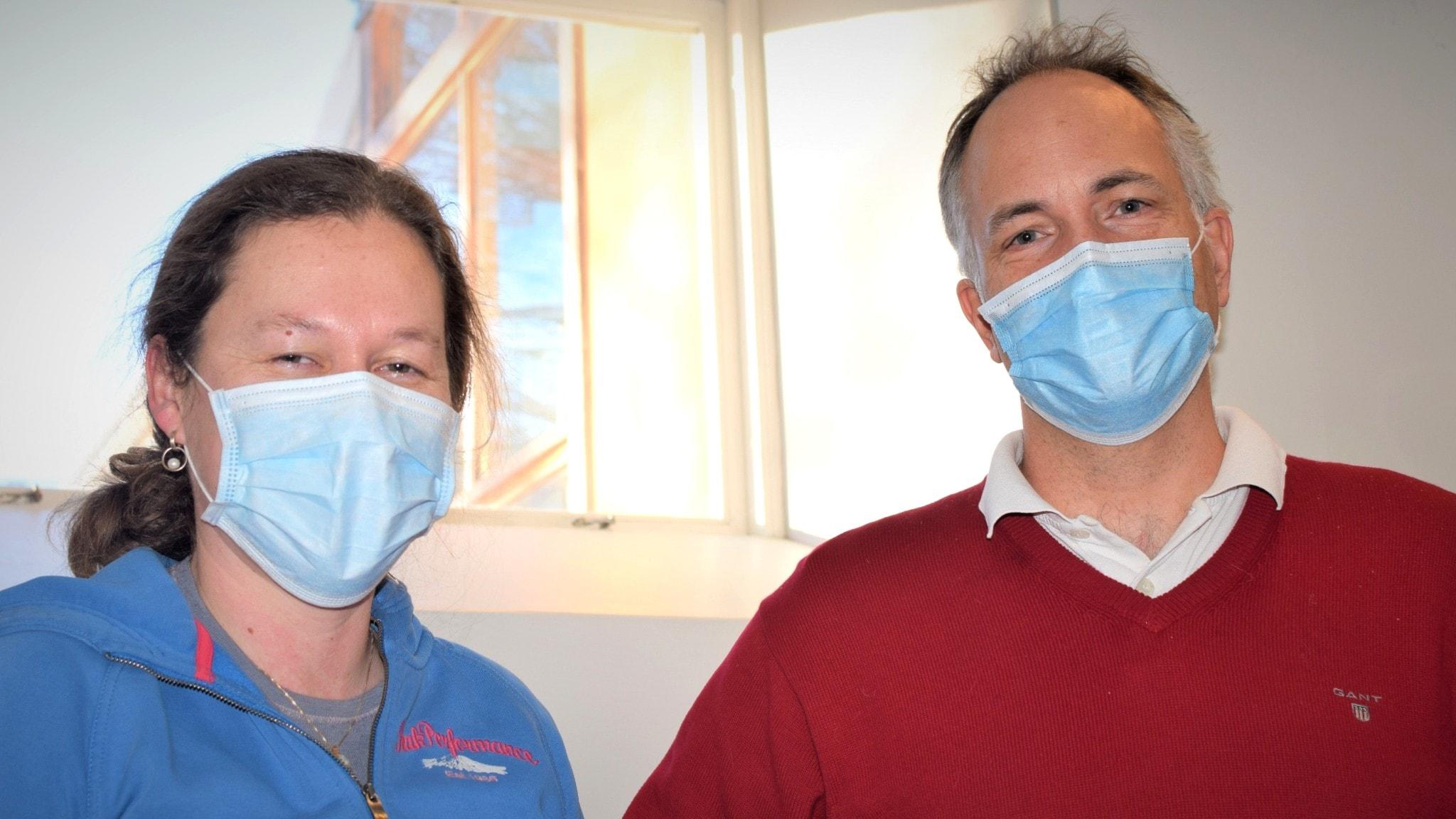 Epidemiologiprofessorn Tove Fall och folkhälsoforskaren Mats Martinell.