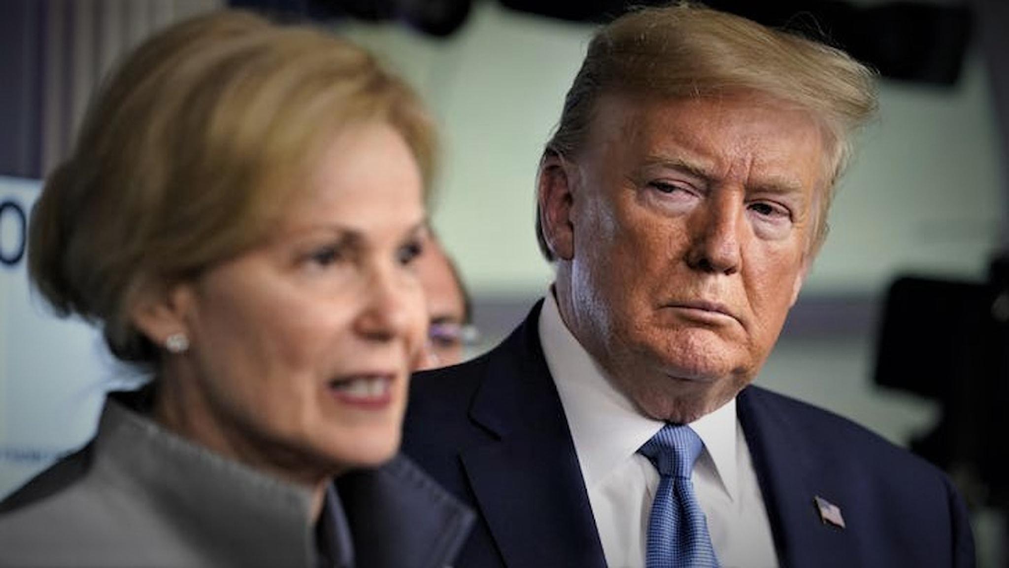 Donald Trump och Dr Deborah Birx